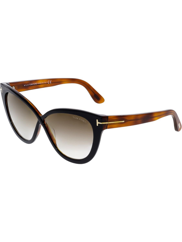 1802257a7f Tom Ford - Black Arabella Cat Eye Sunglasses - Lyst. View fullscreen