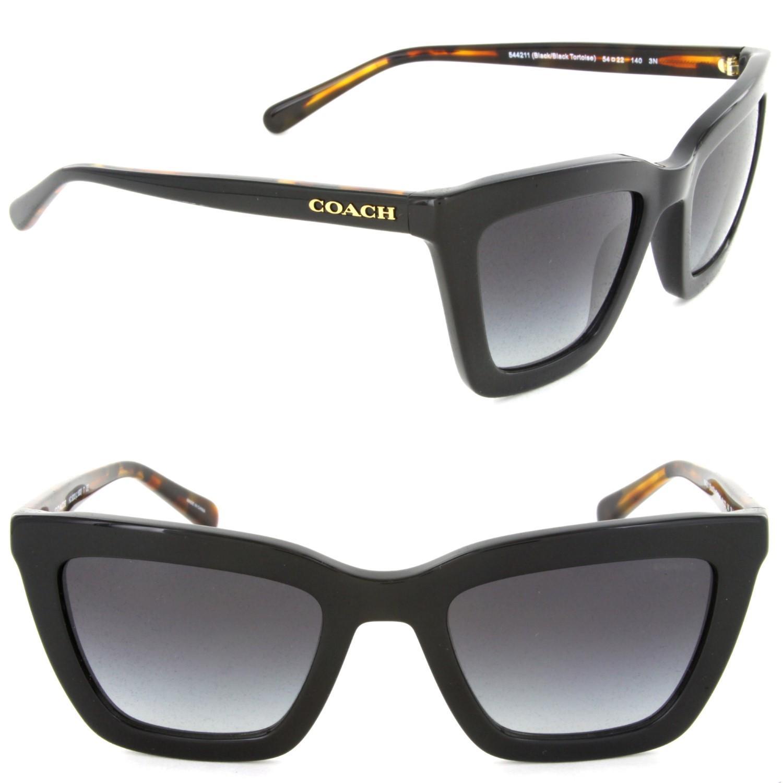 c0127a2f28516 COACH Hc8203 544211 Square Sunglasses Black  Black Tortoise light ...