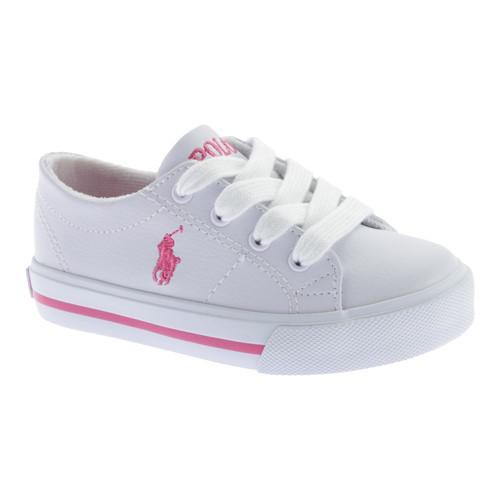 022b9be8199d41 Lyst - Polo Ralph Lauren Infant Girls  Scholar Canvas Sneaker in White