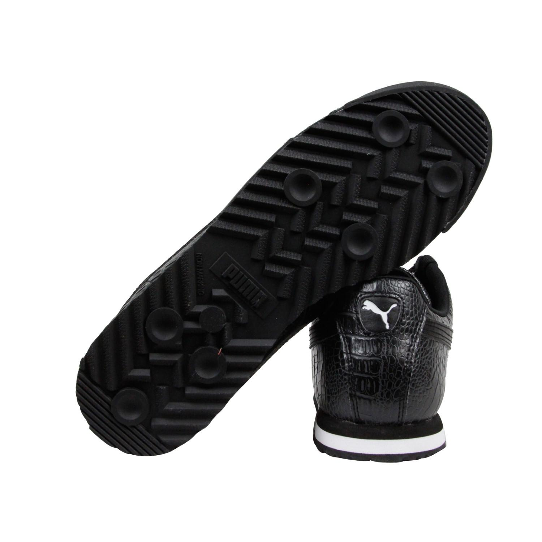 55fb889333e4da Lyst - PUMA Roma Texture Dark Shadow Lace Up Sneakers in Black