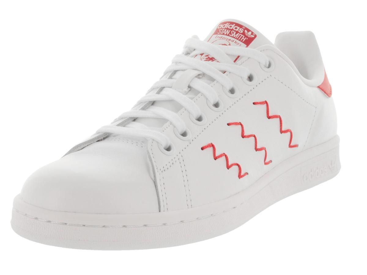 lyst adidas stan smith a zig - zag casual scorpe 11 in bianco.