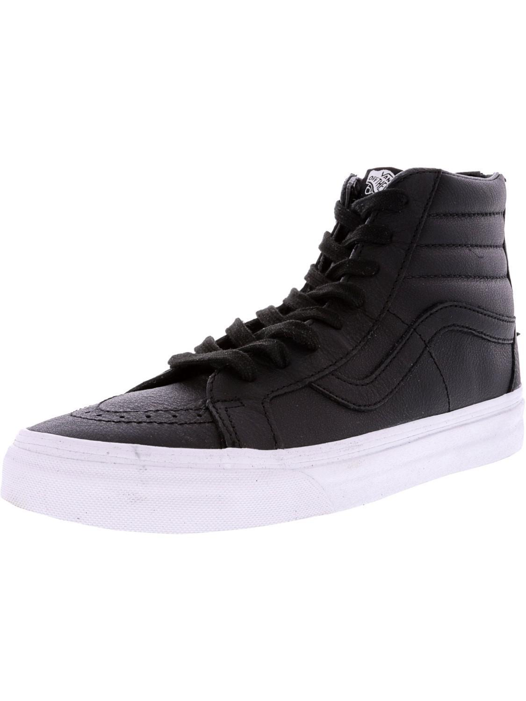c758b221479830 Vans. Men s Black Sk8-hi Reissue Zip Premium Leather High-top Skateboarding  ...