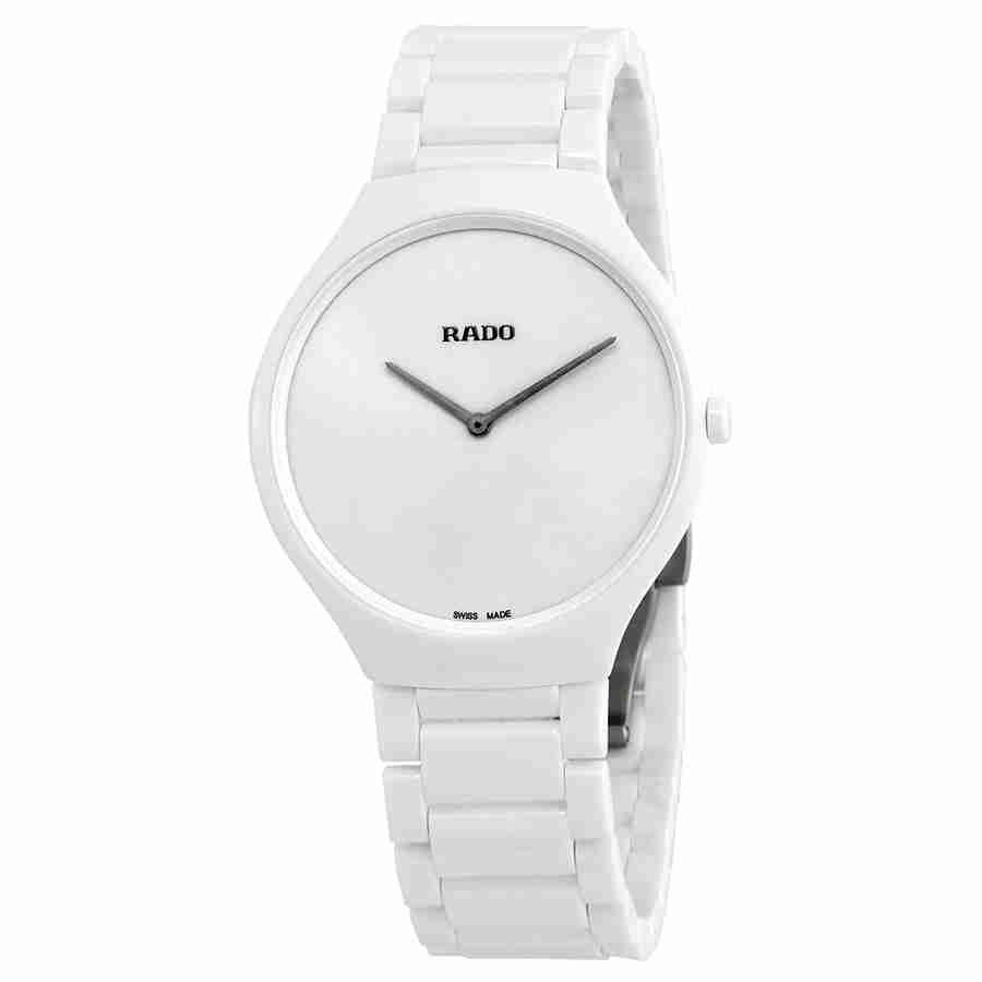 9f87f237a Rado True Thinline White Dial White Ceramic Ladies Watch R27957012 ...
