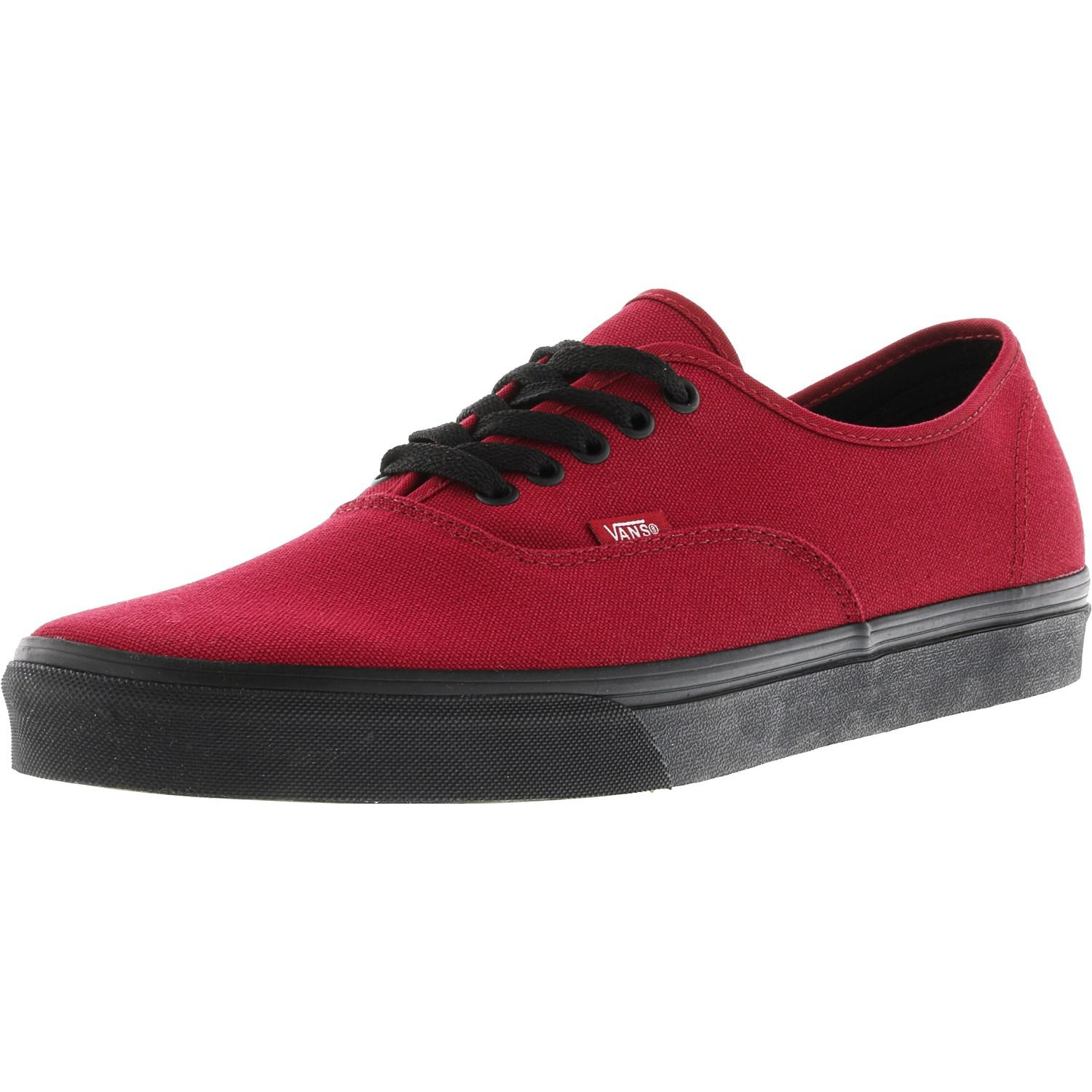 1d5db95f15 Lyst - Vans Authentic Black Sole Ankle-high Canvas Skateboarding ...