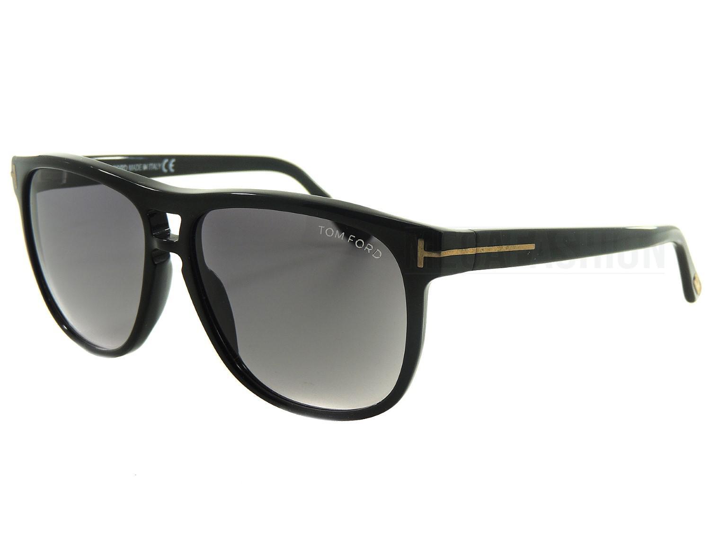 4c0cb3ee98f16 Tom Ford Sunglasses Black Lennon Mod Plastic Tf-288-01n-55-13-140 ...