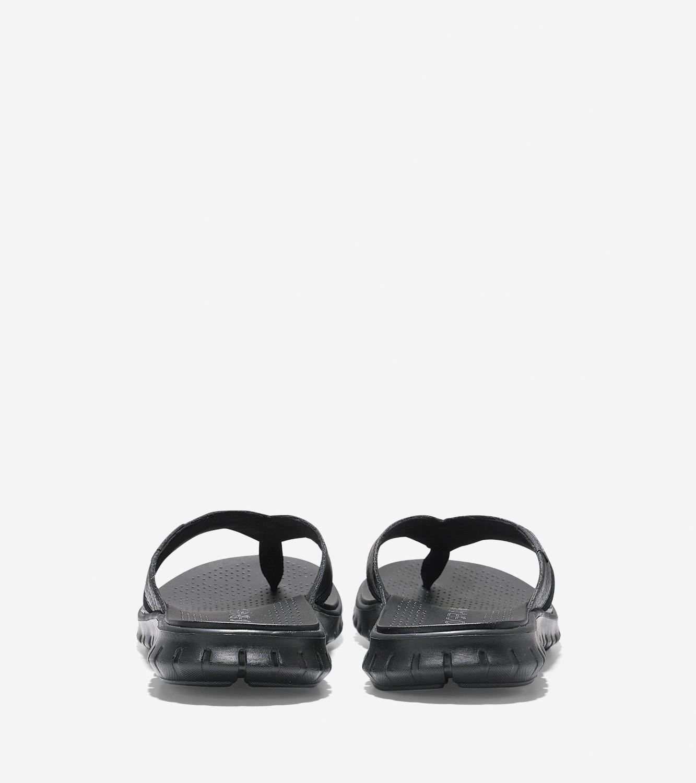 a962f1548b3c94 Lyst - Cole Haan Men s Zerøgrand Fold Thong Sandal in Black for Men