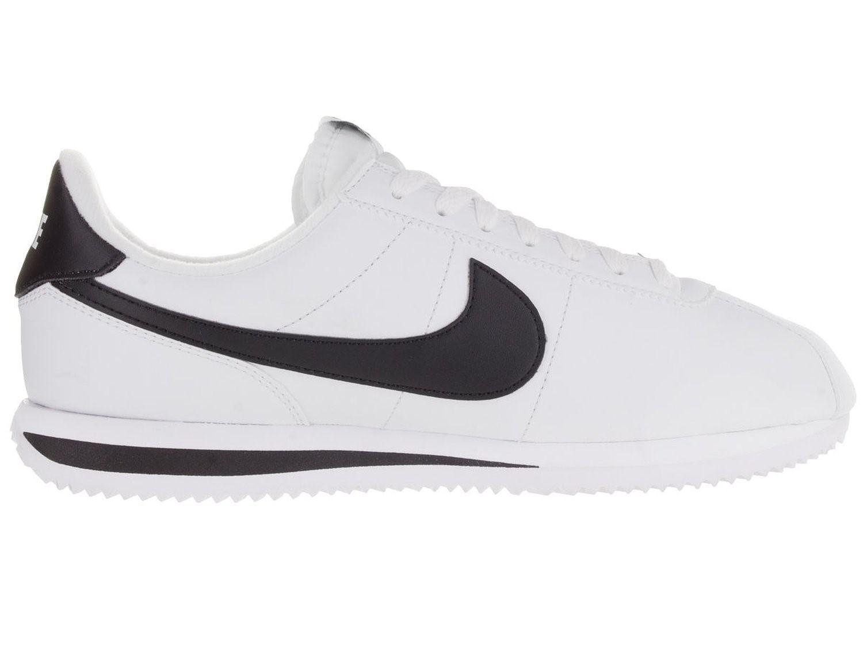 39c61d19824 ... Lyst - Nike Cortez Basic Leather Casual Shoe Whiteblack 8197 WhiteGrey  Mens ...