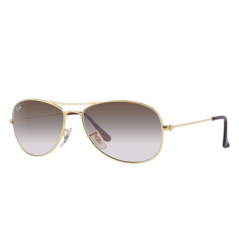 Lyst - Ray-Ban Cockpit Rb3362-001 51-56 Gold Aviator Sunglasses in ... e682479e3d