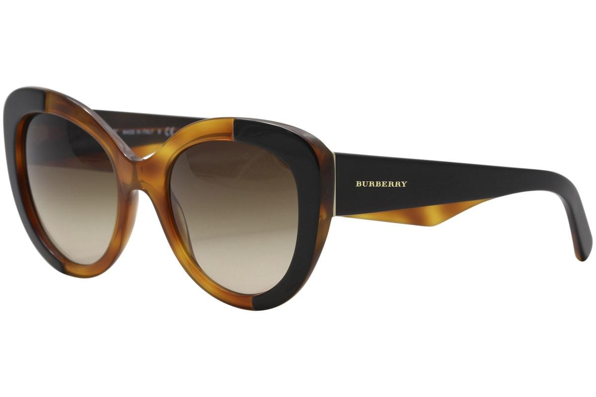 85e5c1767329 Lyst - Burberry Be4253 Be 4253 365013 Top On Amber Round Sunglasses ...