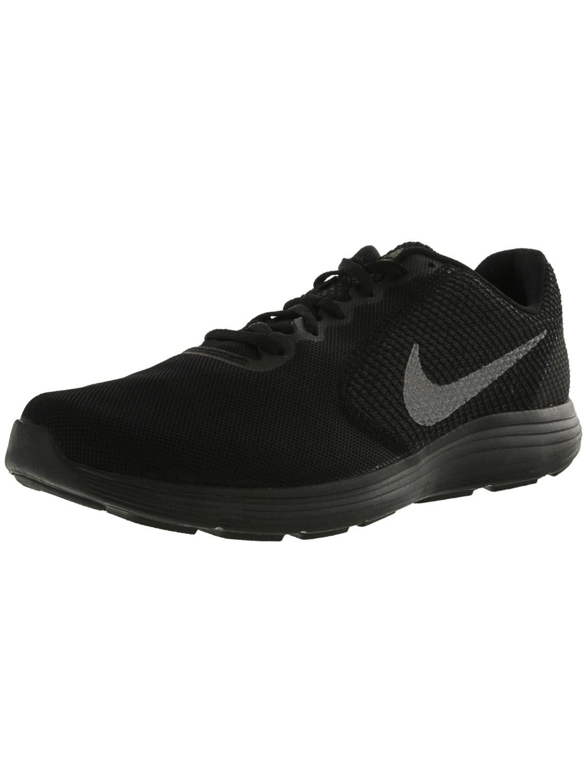 Nike. Men's Black Revolution 3 Ankle-high Running Shoe ...