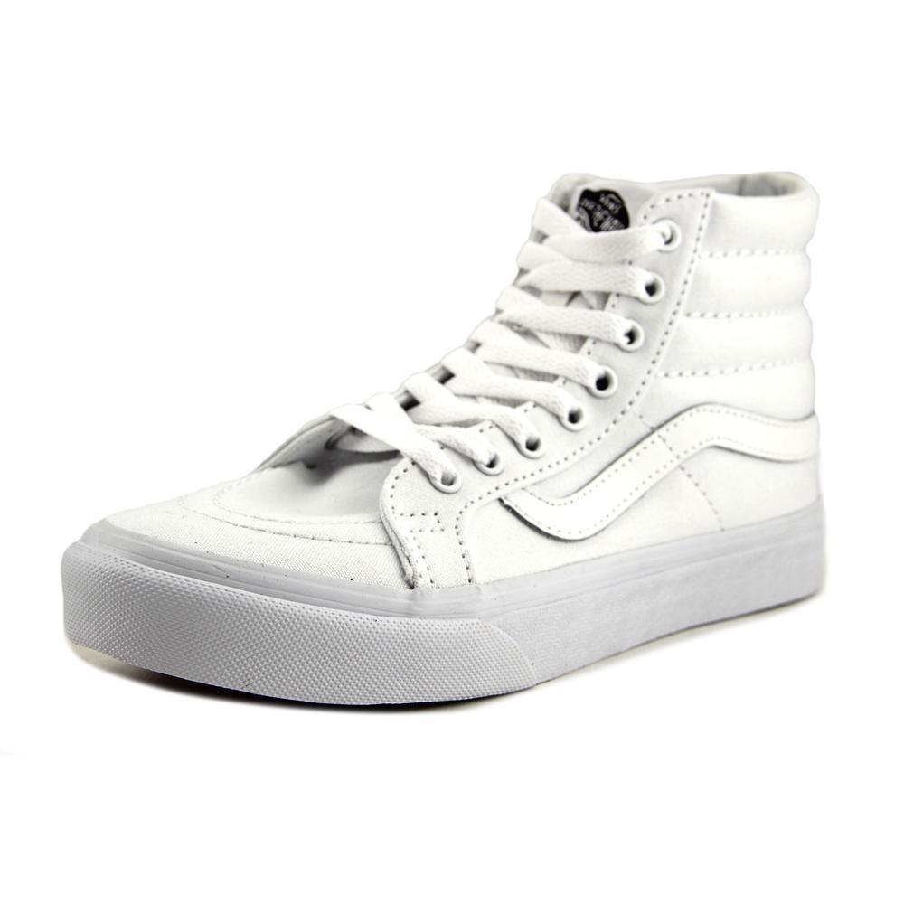 9a9b696874e53 Lyst - Vans Sk8-hi Slim White Skate Shoe in White