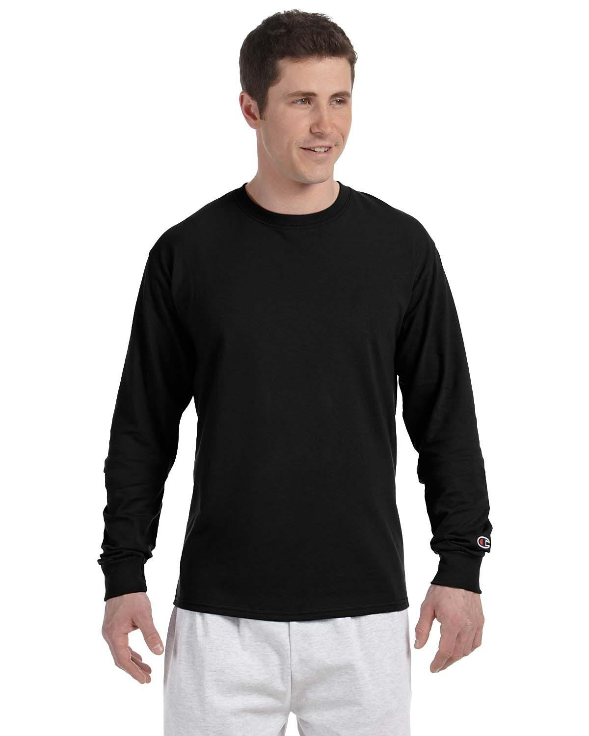 c1f508913498 Lyst - Champion Cc8c 5.2 Oz. Long-sleeve T-shirt Black 2xl in Black ...