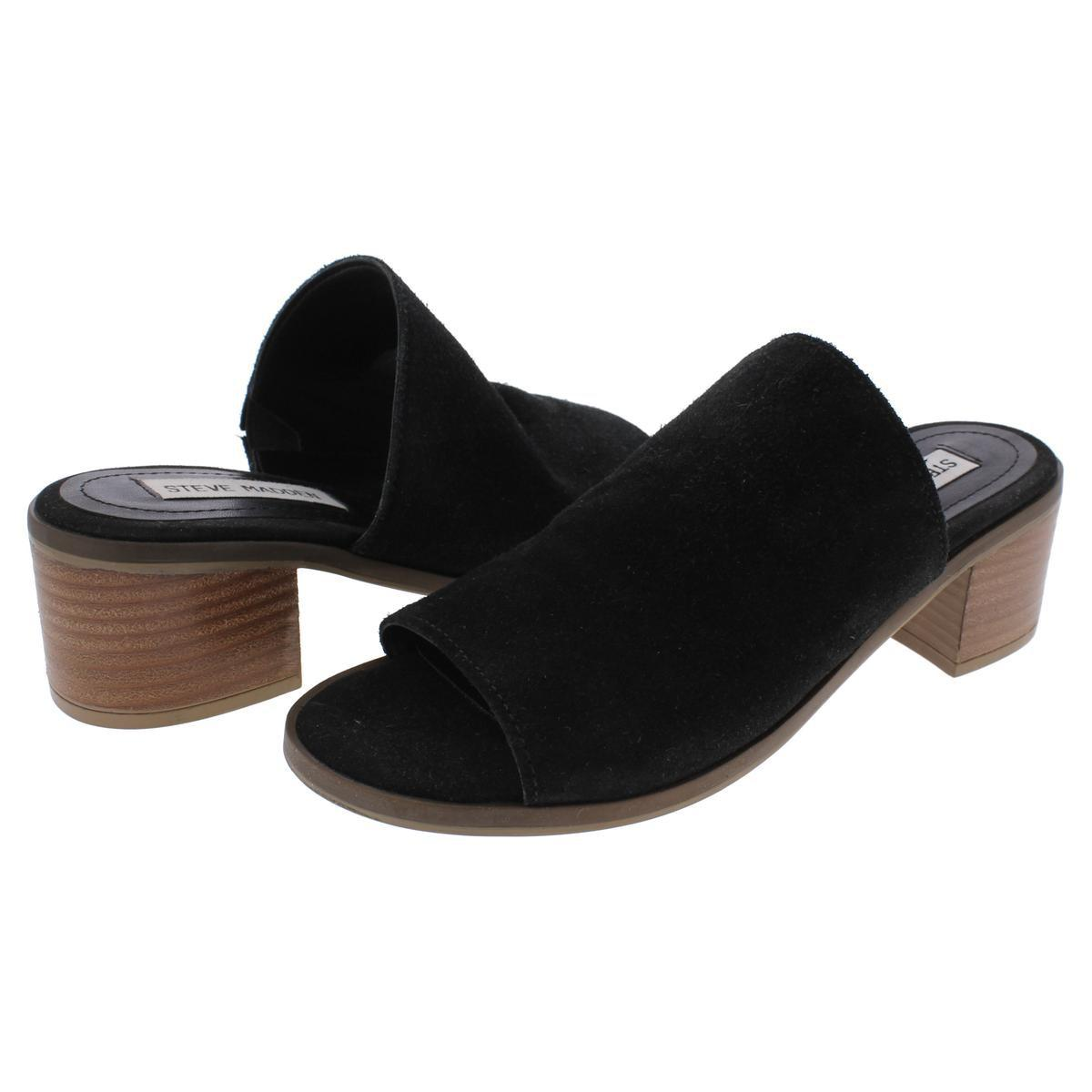 af1fc162beb Lyst - Steve Madden Richelle Open Toe Stacked Dress Sandals in Black