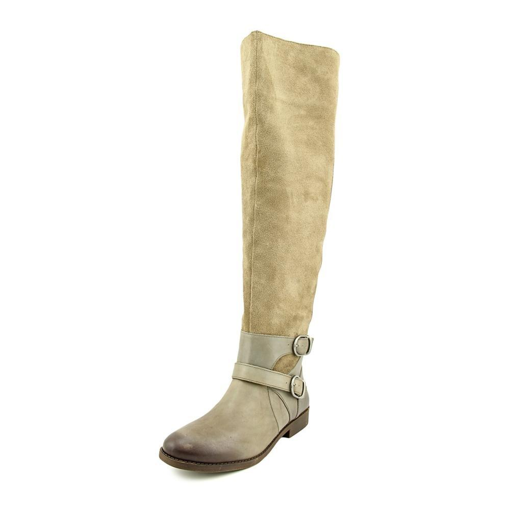 7b5ab0d68fa Lyst - Lucky Brand Womens Zosha Suede Contrast Trim Over-the-knee Boots
