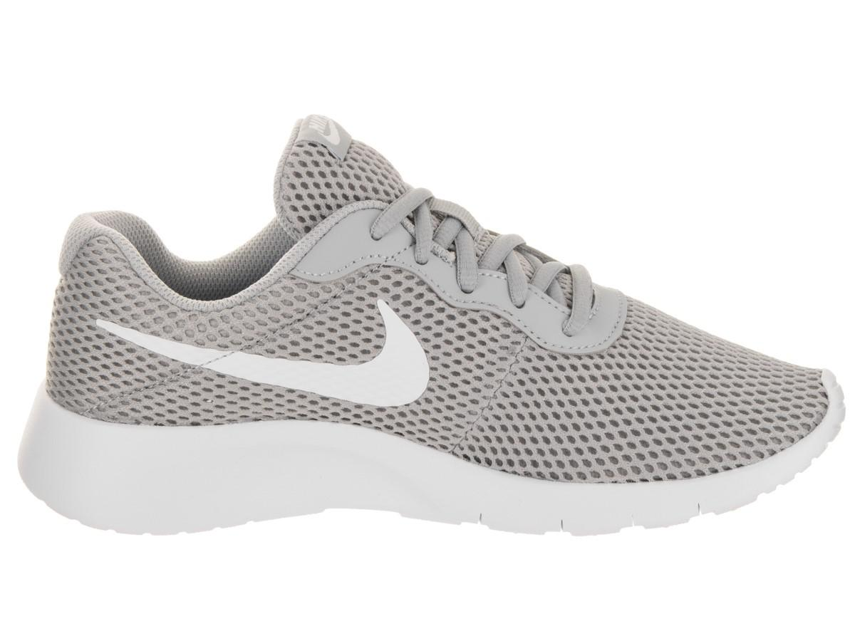 4fef5556a7cc6 Lyst - Nike Kids Tanjun Br (gs) Wolf grey white Running Shoe 4 Kids ...