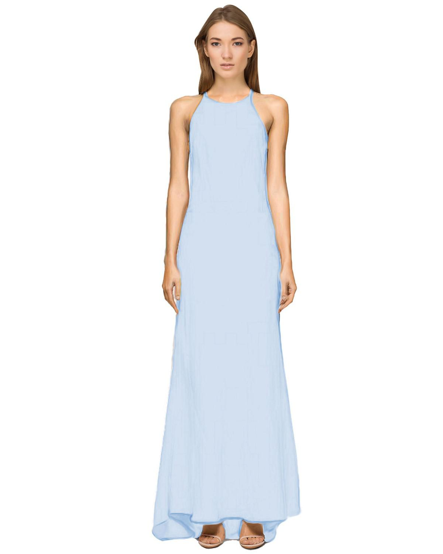 Lyst - Calvin Klein 205W39Nyc Crepe Sleeveless Halter Evening Gown ...
