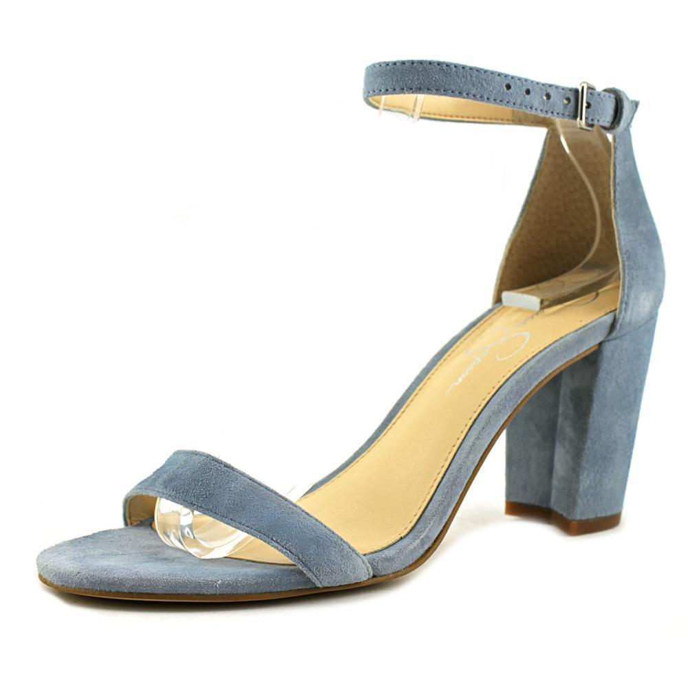 398a205563 Jessica Simpson Monrae Women Open-toe Suede Blue Heels in Blue - Lyst