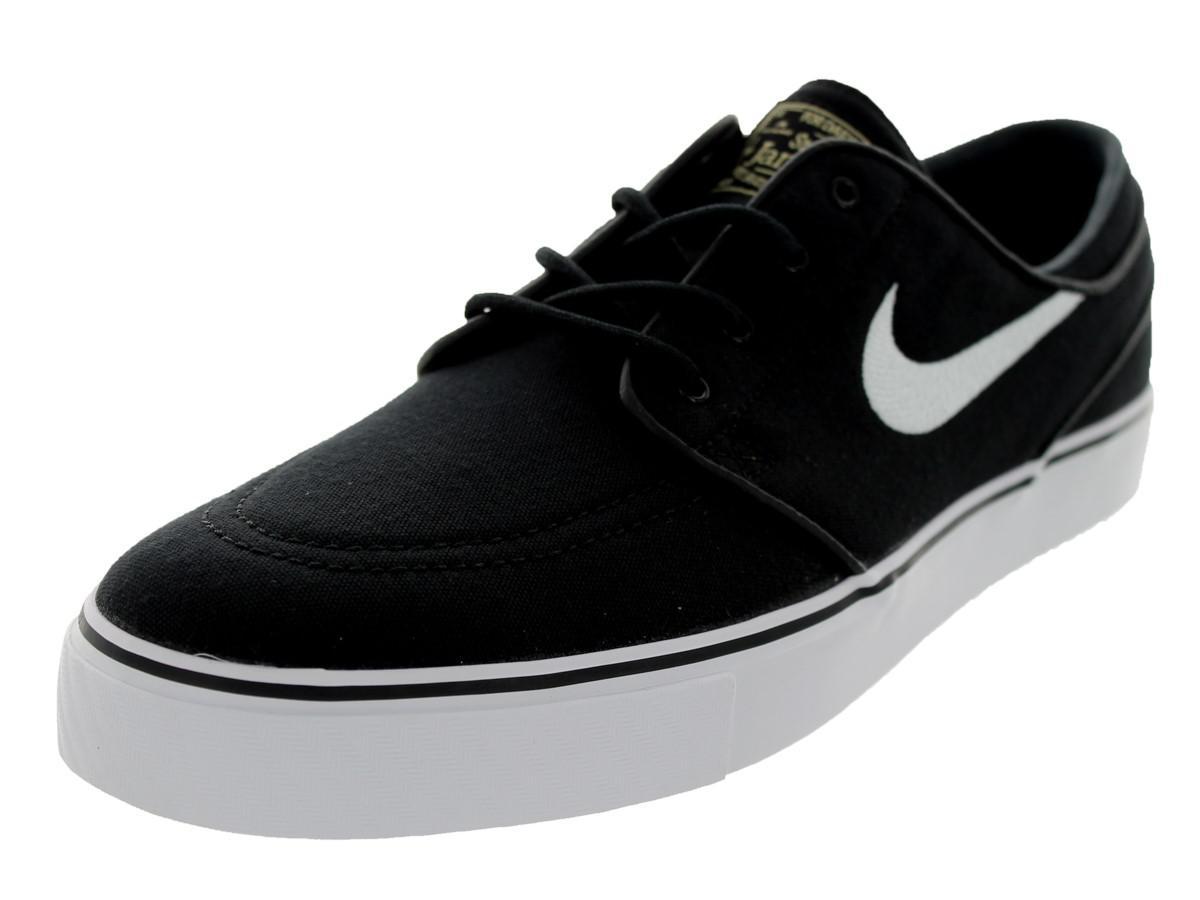 Nike Men's Zoom Stefan Janoski Cnvs Blk/white/gm Lght Skate Shoe(6.5)