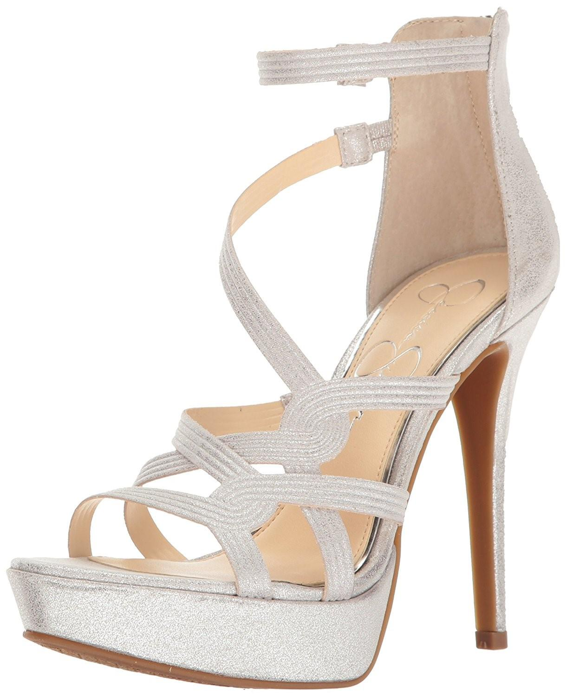 d4c38bd7433 Lyst - Jessica Simpson Bellanne Suede Platform Sandals in Metallic ...