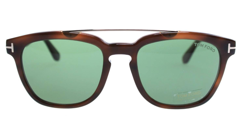 f100bf8be00 Lyst - Tom Ford Sunglasses Holt Tf 516 Ft 53n Blonde Havana   Green ...