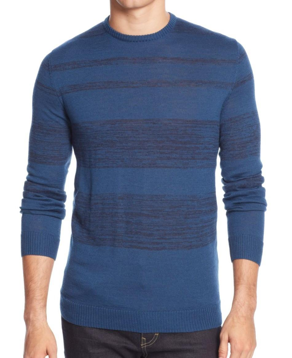 Calvin klein Deep Royal Blue Striped Mens Size 2xl Crewneck ...