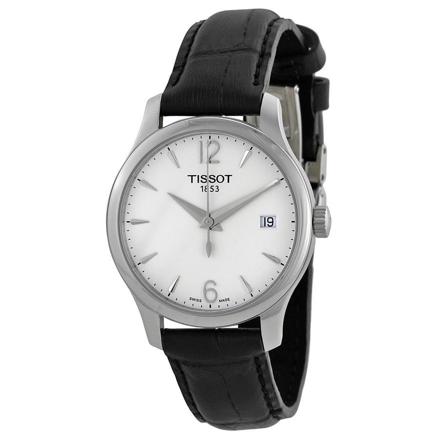 Lyst Tissot T Classic Tradition Silver Dial Ladies Watch Fossil Idealist Es4194 View Fullscreen