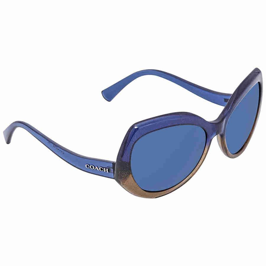 d242a701936cd Lyst - Coach Blue Round Sunglasses Hc8177 547480 59 in Blue