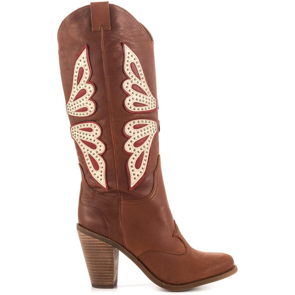 2a85b402641 Lyst - Jessica Simpson Caralee Women Us 7.5 Brown Western Boot in Brown