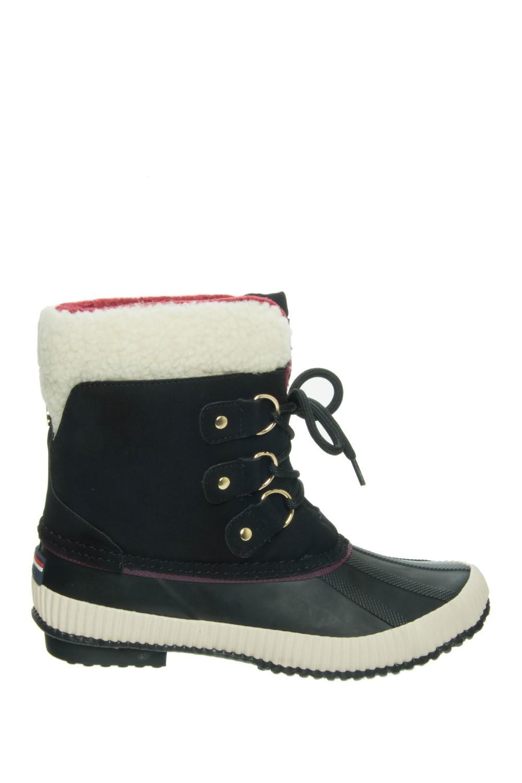 3ab249b5a45c2 Lyst - Tommy Hilfiger Ebonie Women Us 10 Black Winter Boot in Black