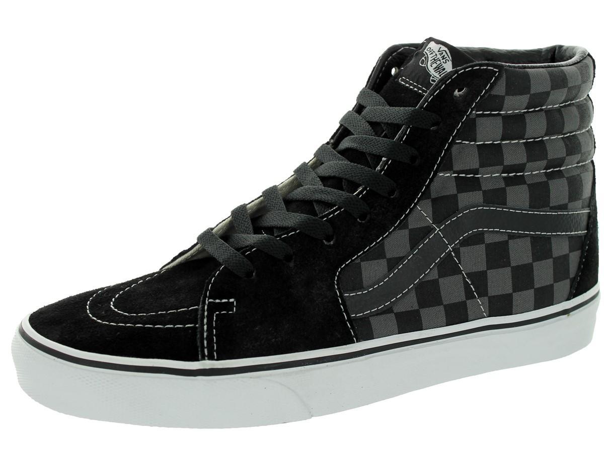 570b9b548e Lyst - Vans Unisex Sk8-hi Black pewter Checkerboard Skate Shoe 10 ...