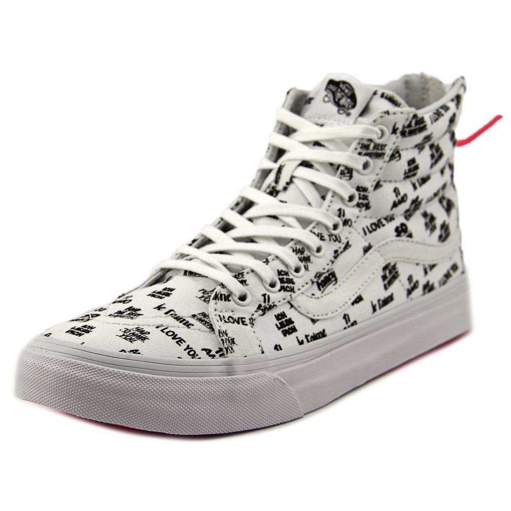 a50064a641b36 Lyst - Vans Sk8-hi Slim Zip Women Us 7 White Sneakers in White