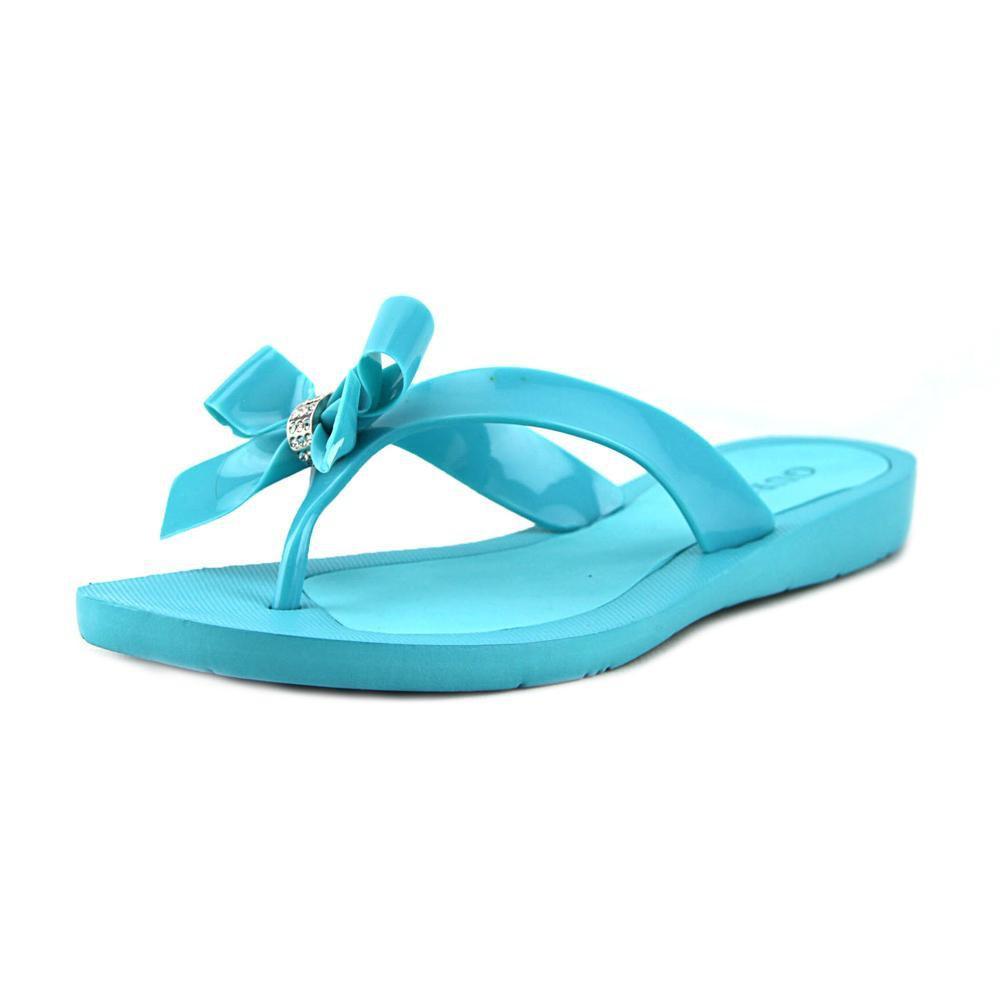 a5e1bef39 Lyst - Guess Tutu Women Us 7 Blue Flip Flop Sandal in Blue