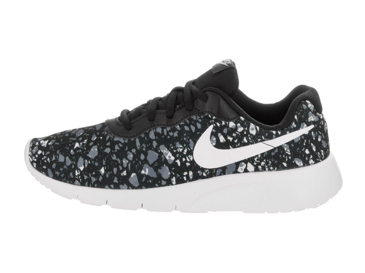 50de87e6caa241 ... closeout lyst nike kids tanjun print gs black white wolf grey white in  e33f6 03035