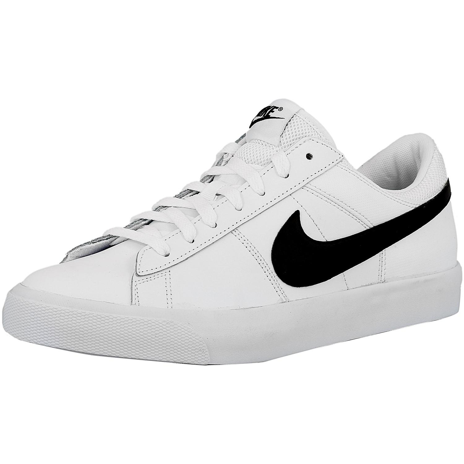 the best attitude ff22e 5defa nike-White-Black-Black-White-Match-Supreme-White-Black-black-white-Ankle- high-Leather-Tennis-Shoe.jpeg