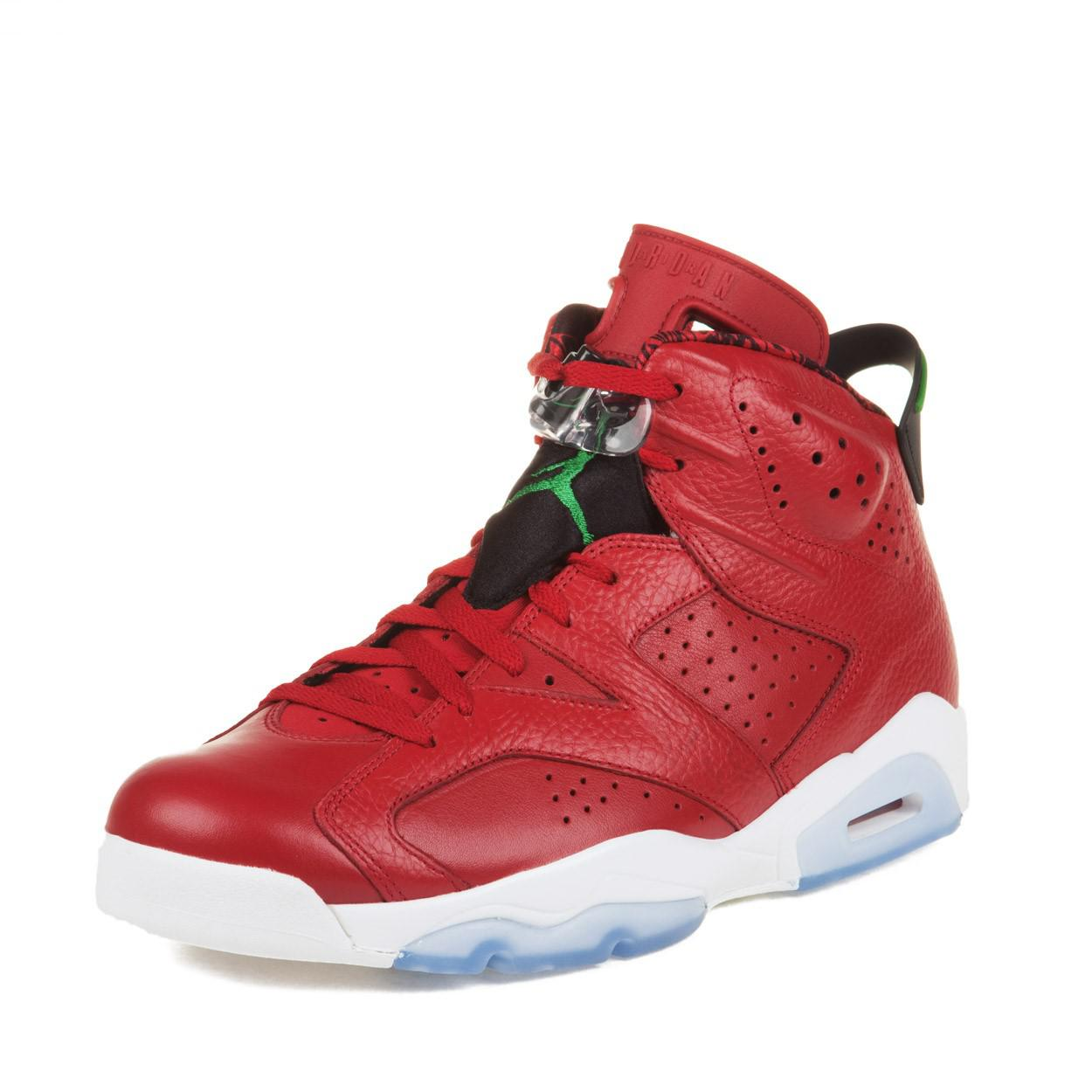 3975bbe7a59b38 ... official store lyst nike mens air jordan 6 retro history of spizike red  green 3fee9 0b6f4