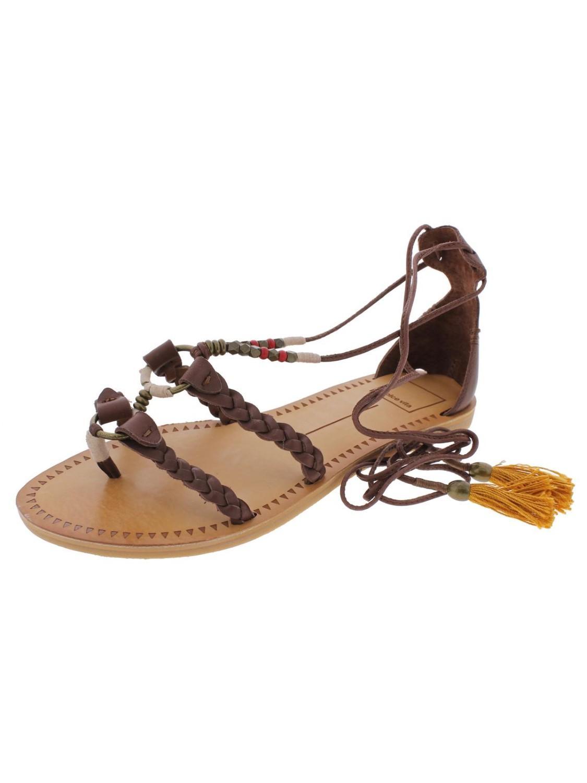 764fa445aa1 Lyst - Dolce Vita Jinny Open Toe Braided Flat Sandals in Brown ...