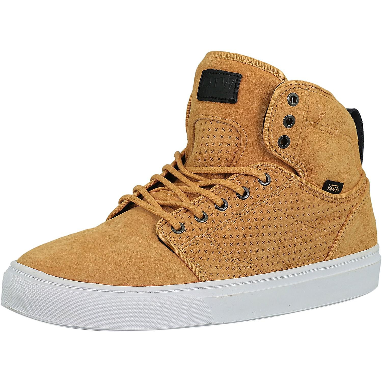 c61547ba6d Lyst - Vans Alomar Luxe Reverse Tan   White Ankle-high Leather ...