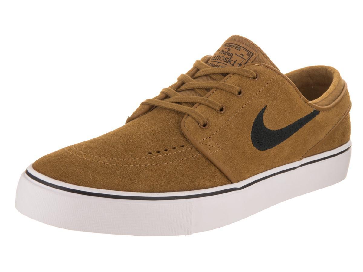 5971deb342169b Lyst - Nike Zoom Stefan Janoski Golden Beige black Skate Shoe 8.5 ...
