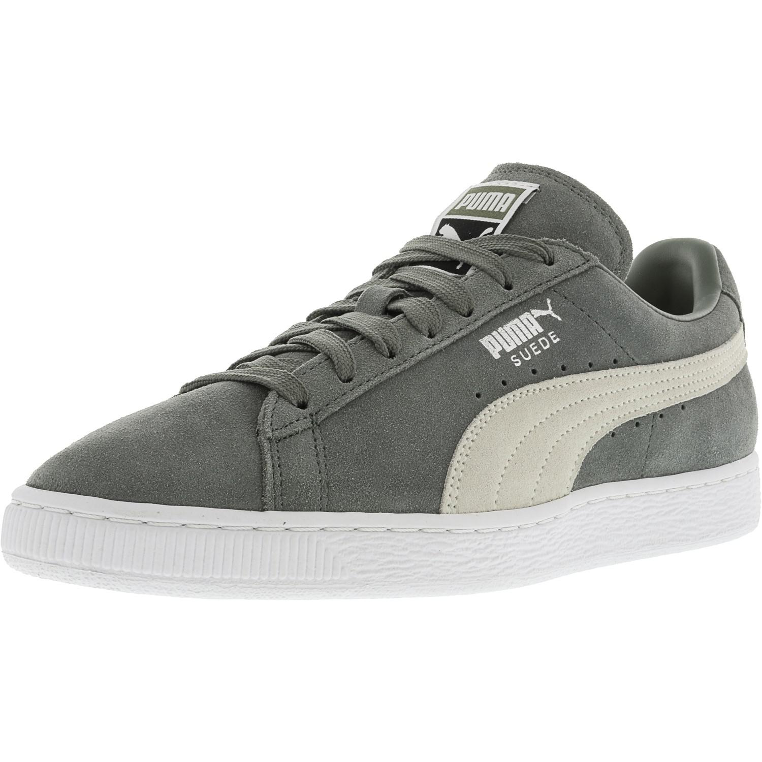 Lyst PUMA Classic + Suede Agave Green White Ankle high