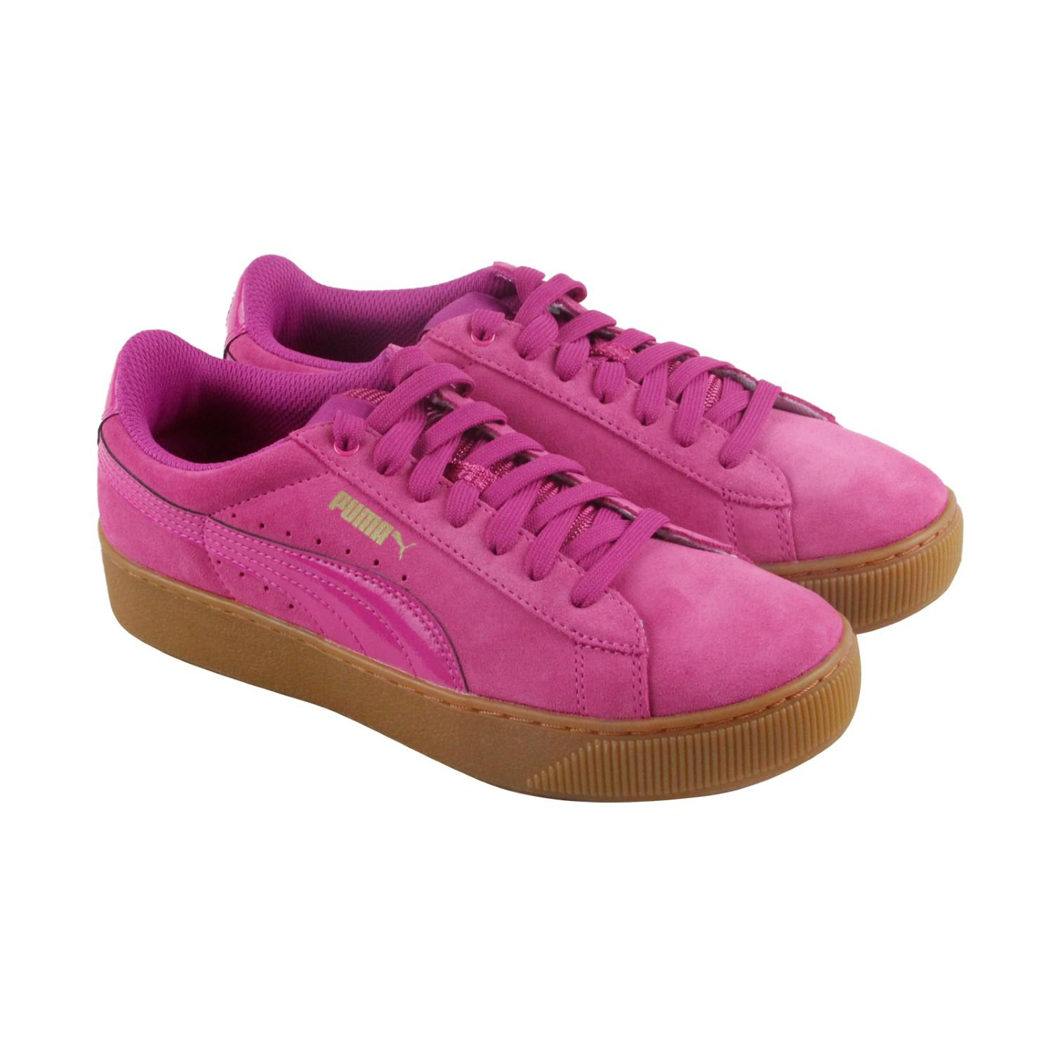 39d99f09f31 Lyst - PUMA Vikky Platform Rose Violet Lace Up Sneakers in Pink