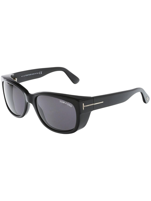 1a084ac381cf Tom Ford - Black Carson Ft0441-01a-56 Rectangle Sunglasses - Lyst. View  fullscreen