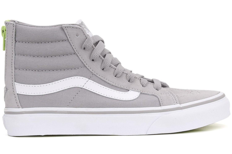 810a8b29f9 Lyst - Vans Unisex Sk8-hi Slim Zip Skate Shoes-silver Sconce-8-women ...