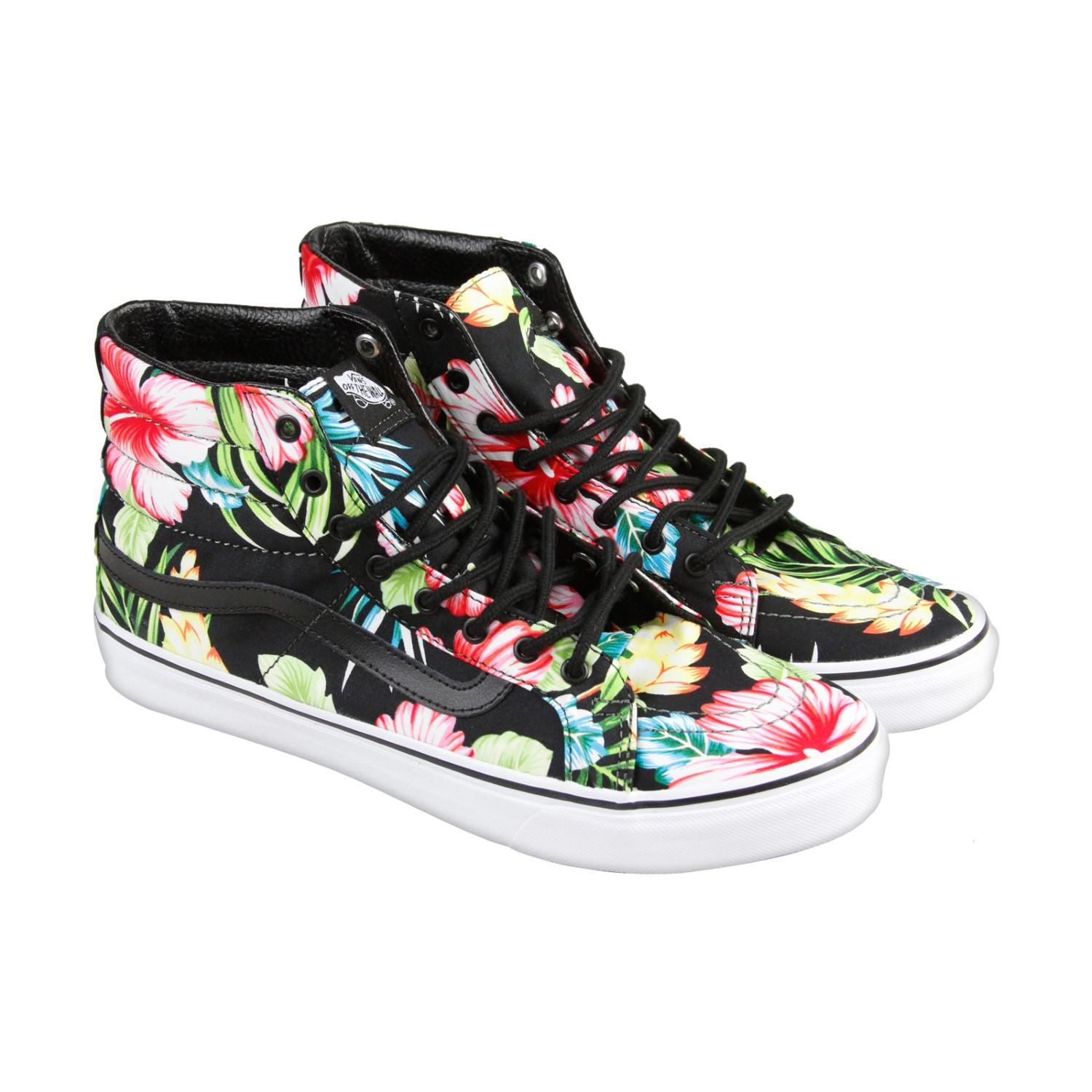 90484a6ca8482 Lyst - Vans Hawaiian Floral Black Mens High Top Sneakers in Black ...