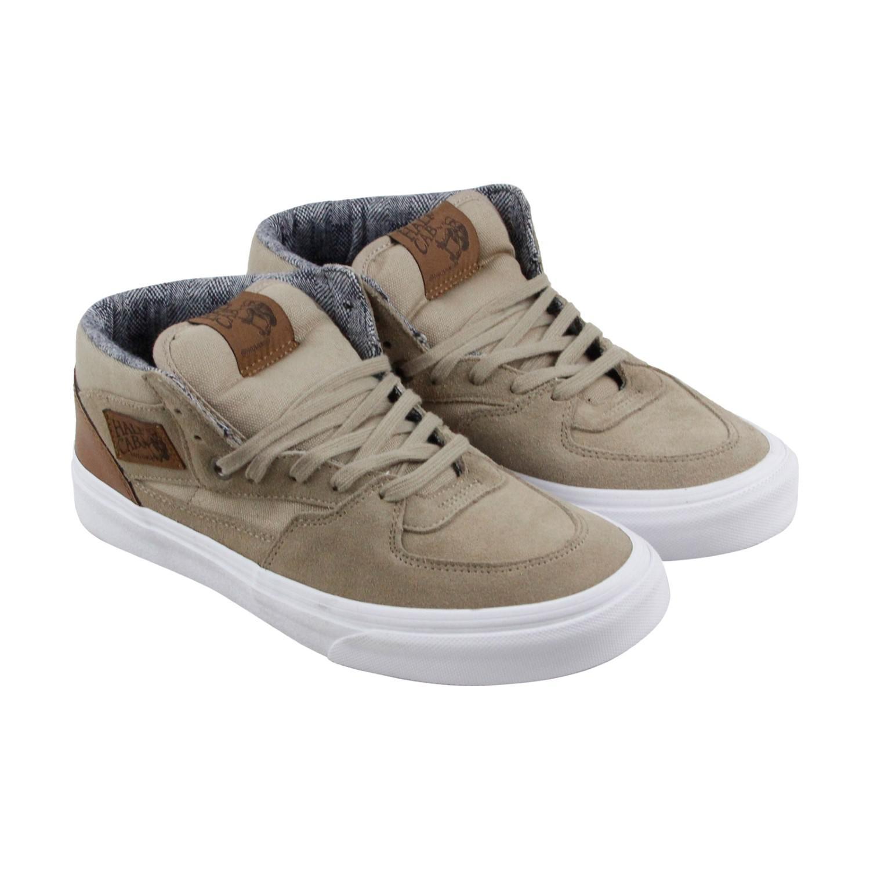vans half cab mid ankle sneakers (beige)