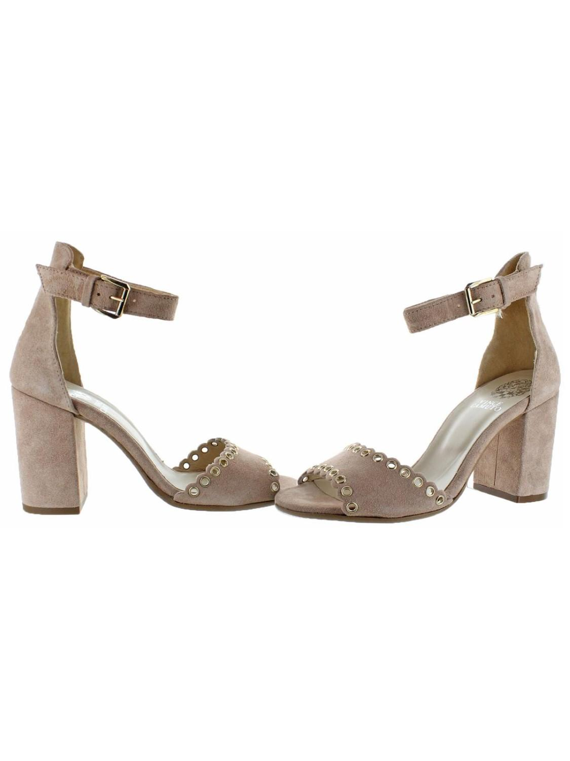 85b292d3f38 Lyst - Vince Camuto Missy Suede Open Toe Block Heel Dressy Sandal Shoes -  Save 18%