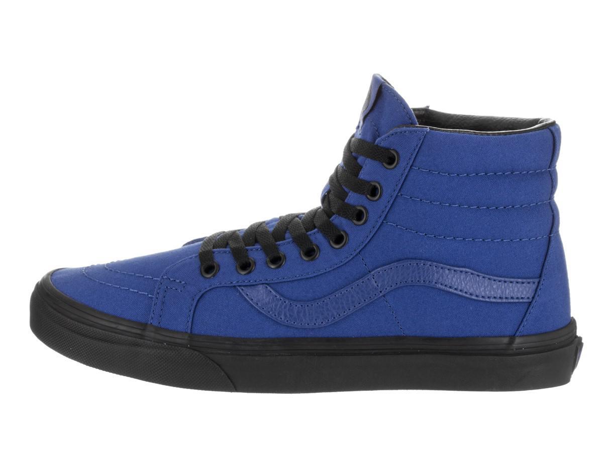 230f4b3aa1 Lyst - Vans Vn-0a2xsblw1   Unisex Sk8-hi Reissue Black Outsole Blue ...