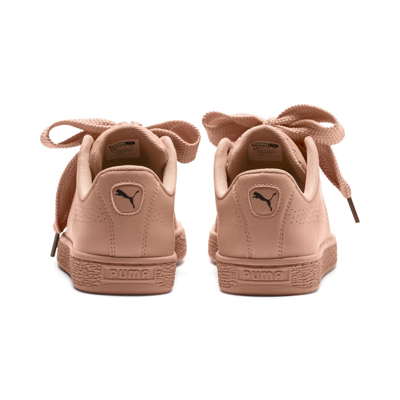 PUMA Basket Heart Ath Lux Damen Sneaker Dusty Coral Dusty