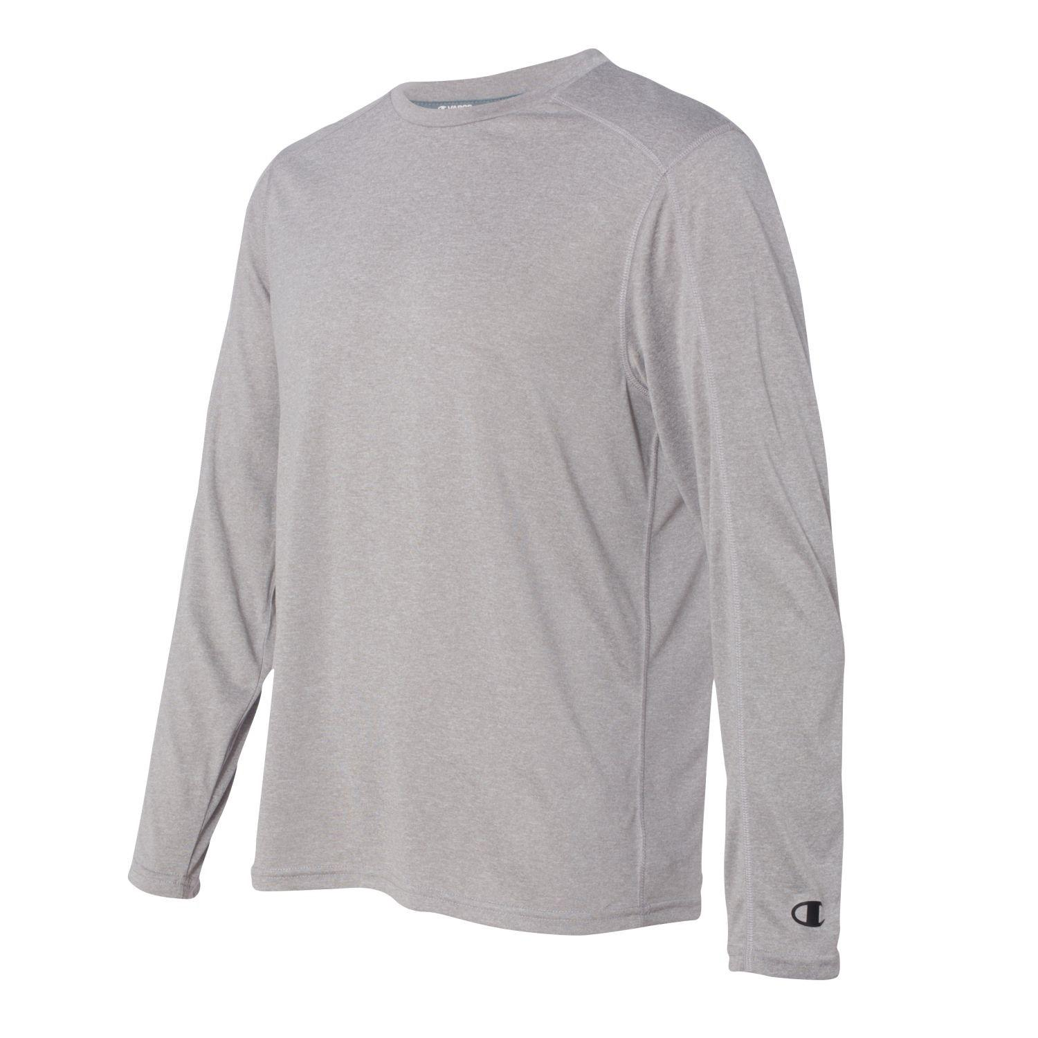 3d6d72bb Champion - Gray Vapor Performance Heather Long Sleeve T-shirt - Cv26 for Men  -