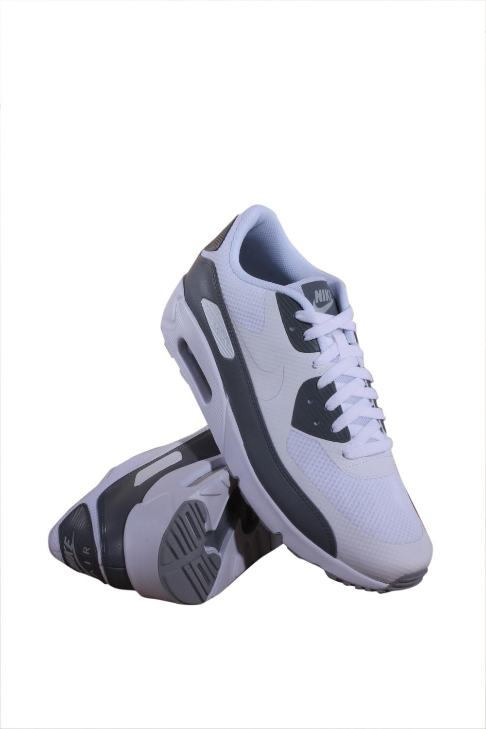 NIKE Men's Air Max 90 Ultra 2.0 Essential WhiteWhite Cool Grey Running Shoe 11 Men US