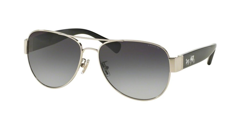 3c5c46f52504f Lyst - COACH Sunglasses Hc 7059 901511 Silver-black in Metallic
